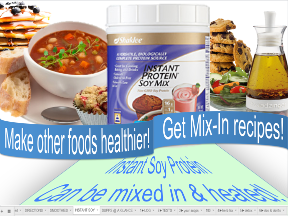 instant soy mix in