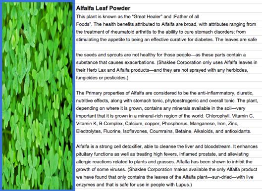 herb lax - alfalfa