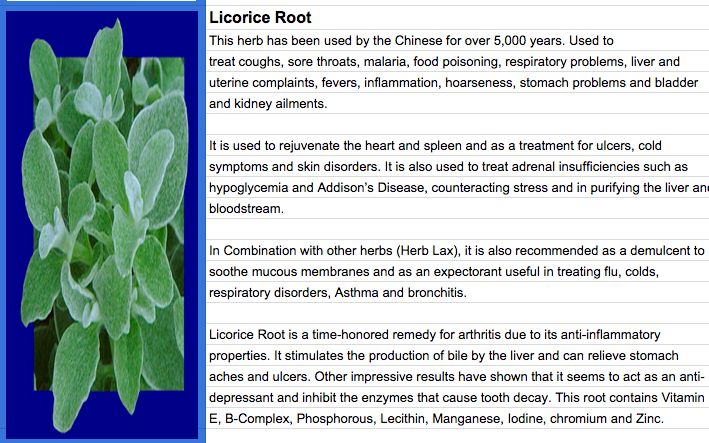 herb lax - licorice root