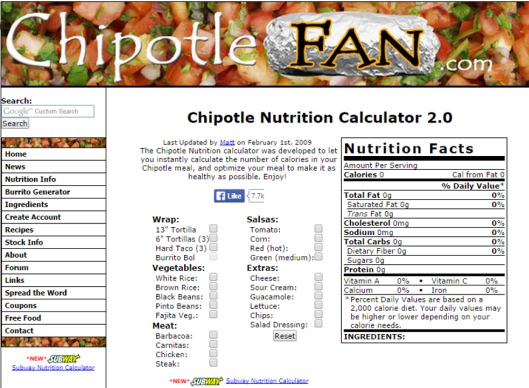 CHIPOTLE_CALCULATOR