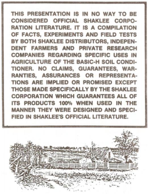 farmer disclaimer