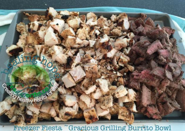 freezer fiesta gracious grilling burrito bowl