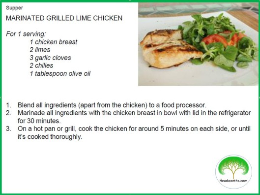 MARINATED GRILLED LIME CHICKEN