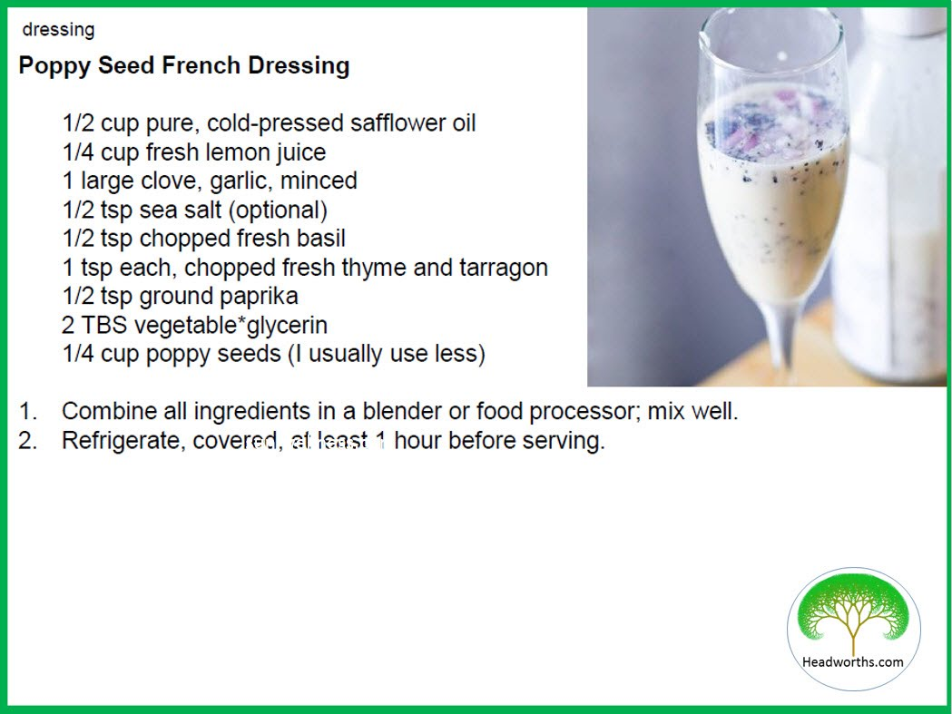 POPPY SEED FRENCH DRESSING