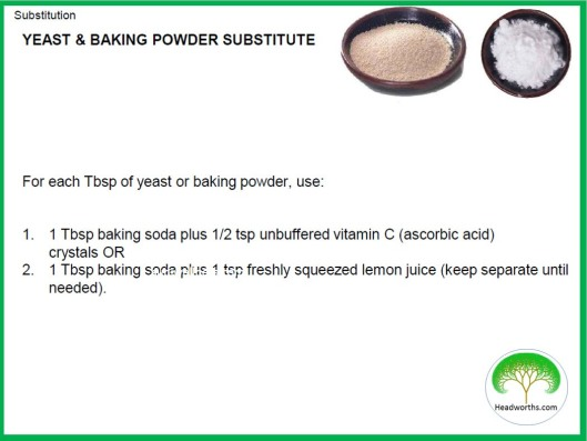 YEAST & BAKING POWDER SUBSTITUTE