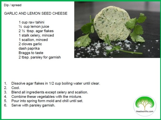 GARLIC & LEMON SEED CHEESE