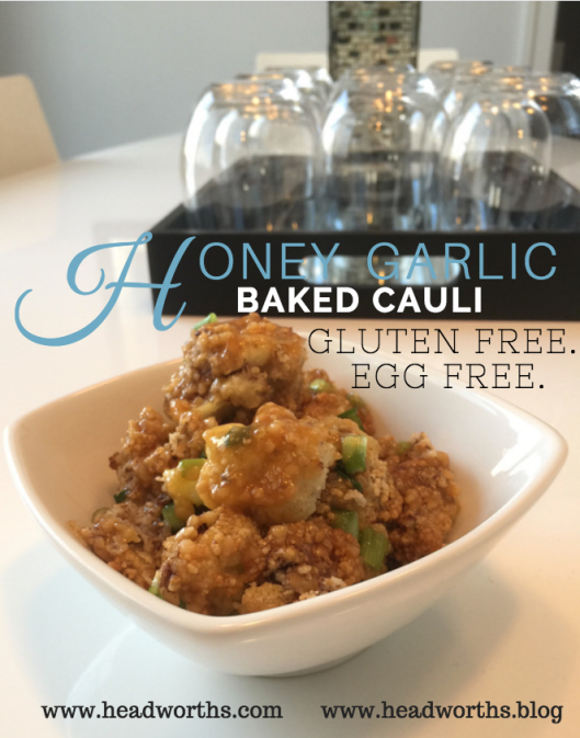 honey garlic baked cauli - pinterest